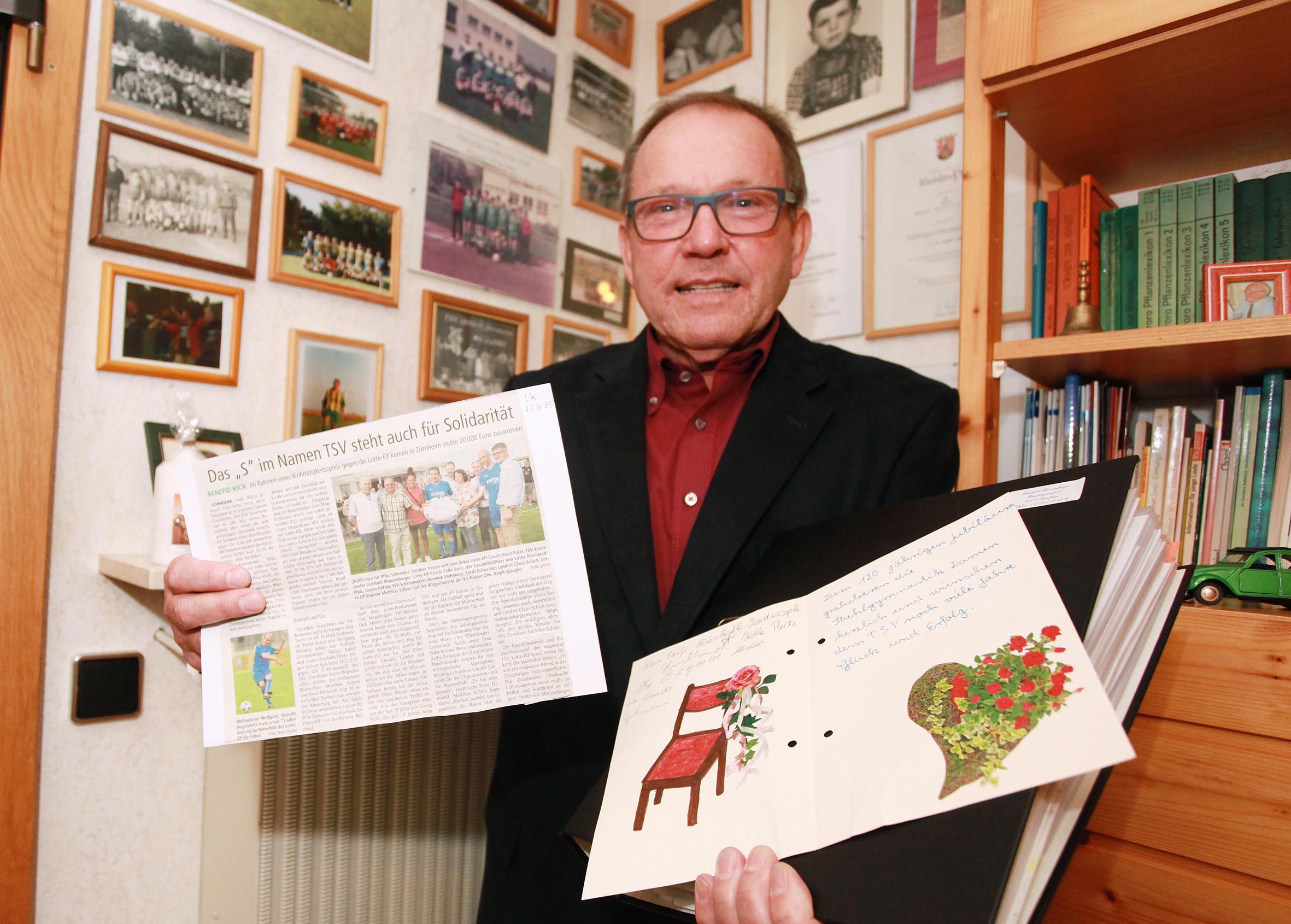 Mein Jahr 2015 Reinhold Münzenberger Vorsitzender Des Tsv Zornheim